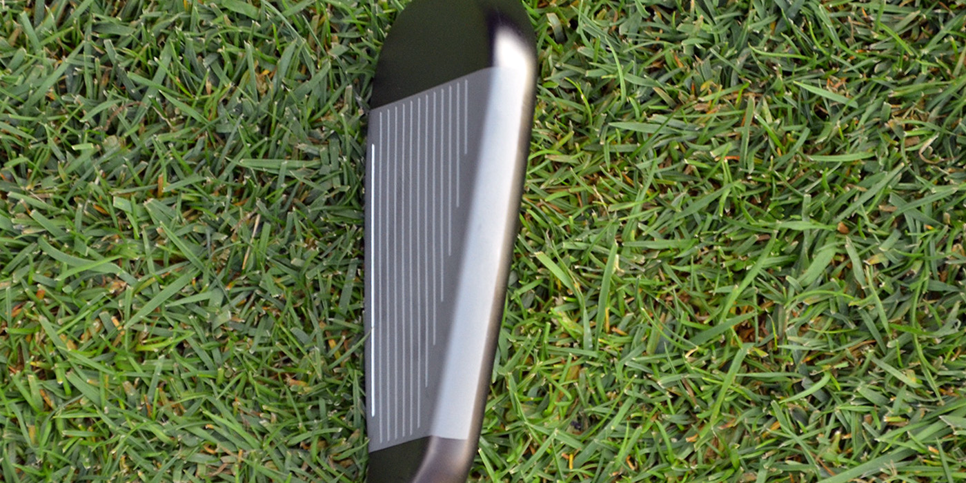 The topline is at the top of this TaylorMade SpeedBlade Iron. It stares back up at you on all irons and wedges at address.