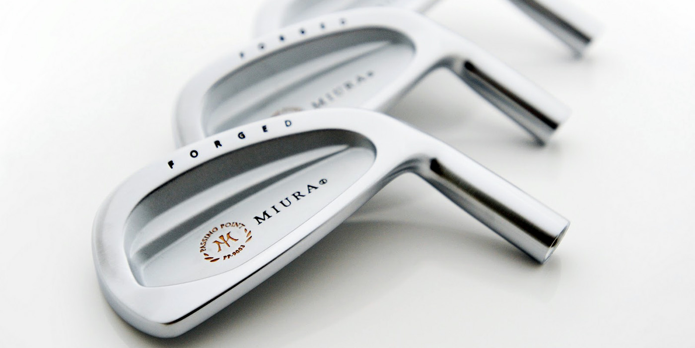 Miura cavity back hand-forged irons. Nice.